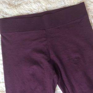 Ann Taylor Loft Merlot legging Large Lg pants